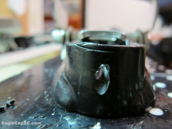 Front view of drilled hole.