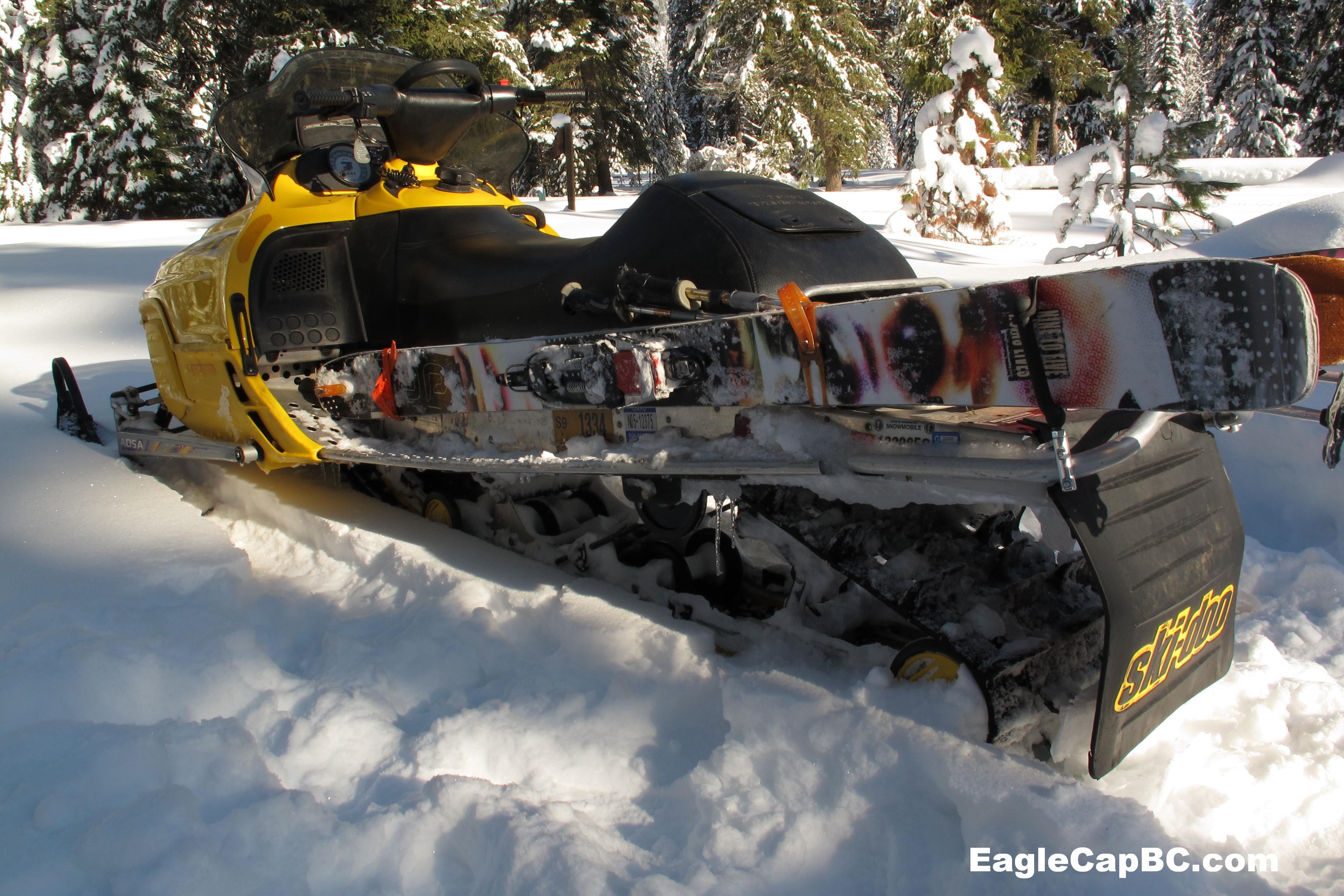 Snowmobile Ski Carry Eagle Cap Backcountry