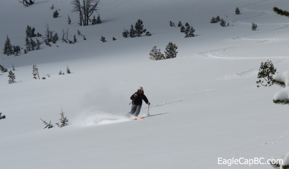 Tysen finds a pot of white gold at the end of the skintrack