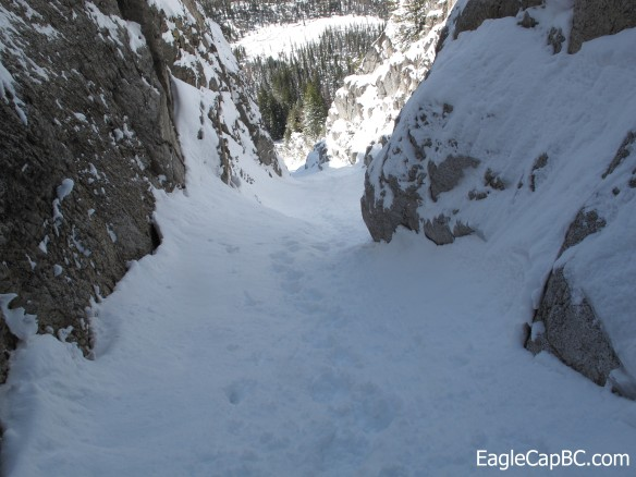 Looking down the rest of the chute