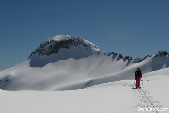 Emily with Glacier Peak in the back