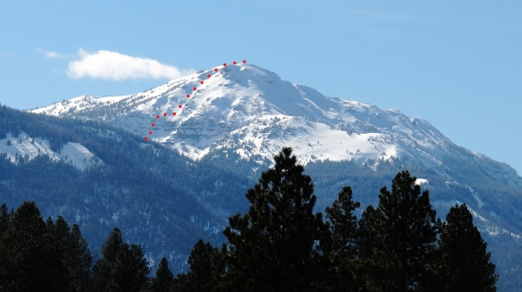 Ruby Peak East Face route