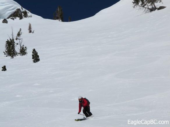 Tysen skiing nature's groomer