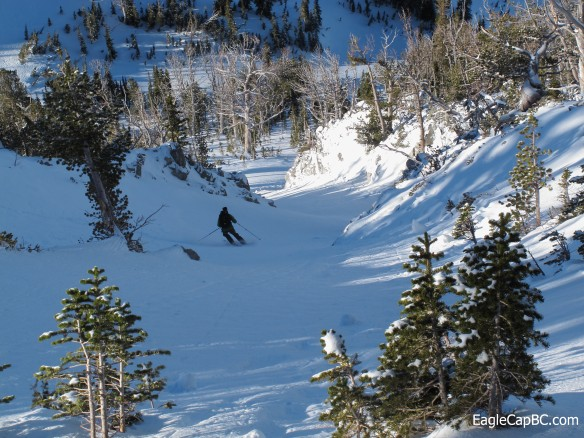 Kip skiing off Peak 8620'
