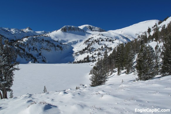 Approaching the 'Horn. Ice Lake in foredround